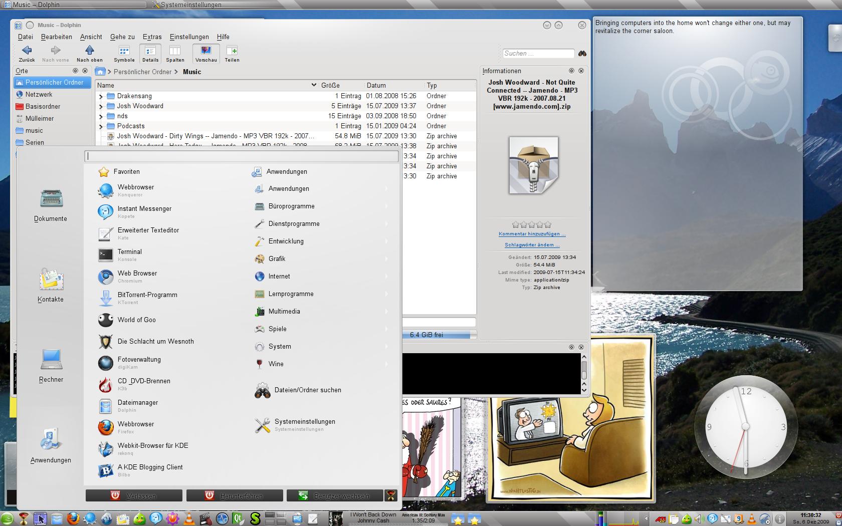 Hier sollte KDE zu sehen sein
